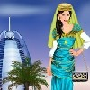 This girl is in Dubai, dress her up in Dubai style! Choose nice clothes and acc