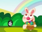 Little Bunny is busy colleting Easter eggs for the upcoming Easter Day. She rea