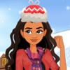 Princess Moana will be giving out a winter party with her best friend Elena. Le