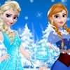 Elsa and Anna are hosting a fun winter party at...
