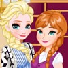 You can dress up Frozen princesses Elsa and Anna for a snapchat challange. Dres