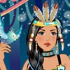 Pocahontas is a native princess. She loves natüre too much. We create a dress