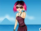 Timone is spending a day at the beach. Since she is a fan of emo, she would lik