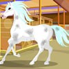 Barbies most favorite pet is her horse, Snowflake. Help her give him a bath and pamper him a bit before she takes him on a snowy winter trail ride!! After you have gotten Snowflake looking beautiful, dress up Barbie. Have fun playing horse caring games!
