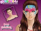 Here is one fun make up game different than all others seen. This girl is a mod