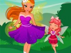 Dress up the fairy mom and daughter with a wide...