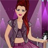 You can design and sew cool rockstar dresses and dress up our cool model with t