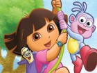 Have fun while playing puzzle game with Dora.