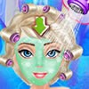 You can make up frozen princess Elsa by playing our latest makeover game.