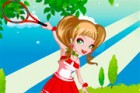 Caroline is a real tennis player! She won several junior tournaments and she to