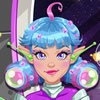 This cute girl is a spaceship captain and she discovers galaxy with her crew. A