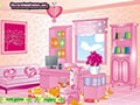 Decorate a girl office with pink and girly furnitures.