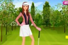 This girl is recently falling in love with golf. She loves the feel of a good s