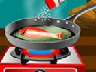Hey girls, today we present a great cooking game for girls, Grilled Fish With L