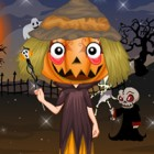 Design your very own scary pumpkin head, with a...