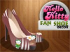Diana loves Hello Kitty very much, she wants her new shoe to show that she is a