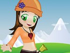 Just like Heidi, the mountains girl, this sweet and cute girl loves living in t