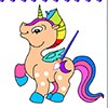 This coloring book is very cool girls. you can color unicorns , horses and poni