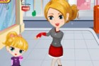 Dress up the kid and her mommy. She wants to dress up like her mommy; you may s