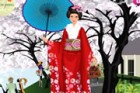 The kimono is a Japanese traditional garment worn by women, men and children. B