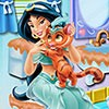 Princess Jasmine's bathroom is very dirty and she needs your help to clean it u