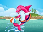 Dolphins are so cute and they love to have fun! Dress up this dolphin, choose h