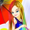 Justine loves rainbow fashion and bright colors. She enjoys spending time outsi