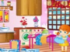 Decorate your own girly laundry room by playing Laundry Room Decoration Game.