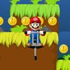 Collect as many stars for a good score, move Mario with the mouse, jump with pogo stick on enemies and collect coins