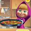 Let's cook tortilla pizza with Masha from Masha and The bear cartoon series. Fi