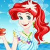 This cute mermaid princess find his love and she is going to mary with him. You