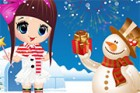 Look that lovely snowman!Christmas is coming soon!Girls come on and dress up yo