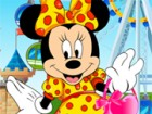 Hi. It's a great sunny day and Minnie is about to go out dating with Mickey. Sh