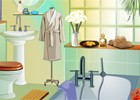 This is a spa decoration game. Here is just a simple bathroom. But it has got a