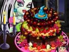 A delicious monster high fruit pie is about to get decorated. But the monster