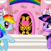 Little Ponies lives on glitter castle. Play this cool castle decorating game an