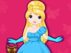 Dress up the young princess Elisabeth and create a glamorous princess with jewe
