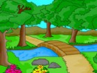 There are 5 levels in this game where you have to color the different sceneries
