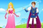 A noble princess is shy because she will go dating with her frog prince. She ne