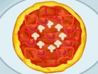 You must cook delicious pizzas by slicing red hot peppers and mushrooms. On top