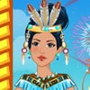 princess pocahontas is going to marry the prince she loves. Please dress up her with cool wedding gowns.