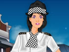 This female police officer has a cool squad car and need the best uniform to ge