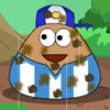 Pou like football very much! He play with friends in the ground all day...Unfor