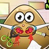 Pou is having a tough time breathing so in this new doctor game you will have t