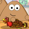 Pou is cooking Turkey dinner for family. That i...