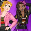 You can dress up Disney princesses with cool band t-shirt to match their musica