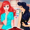 Princesses Ariel and Jasmine are going to attend a special party today. They wa
