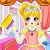 Castle of this princess is in a mess and you must help her to clean it up. Prin