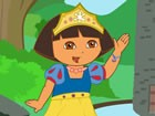 Dress up dora the explorer with nice princess outfits.