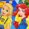 You can dress up our four princessess Frozen Anna, Snow White, Rapunzel and Mer